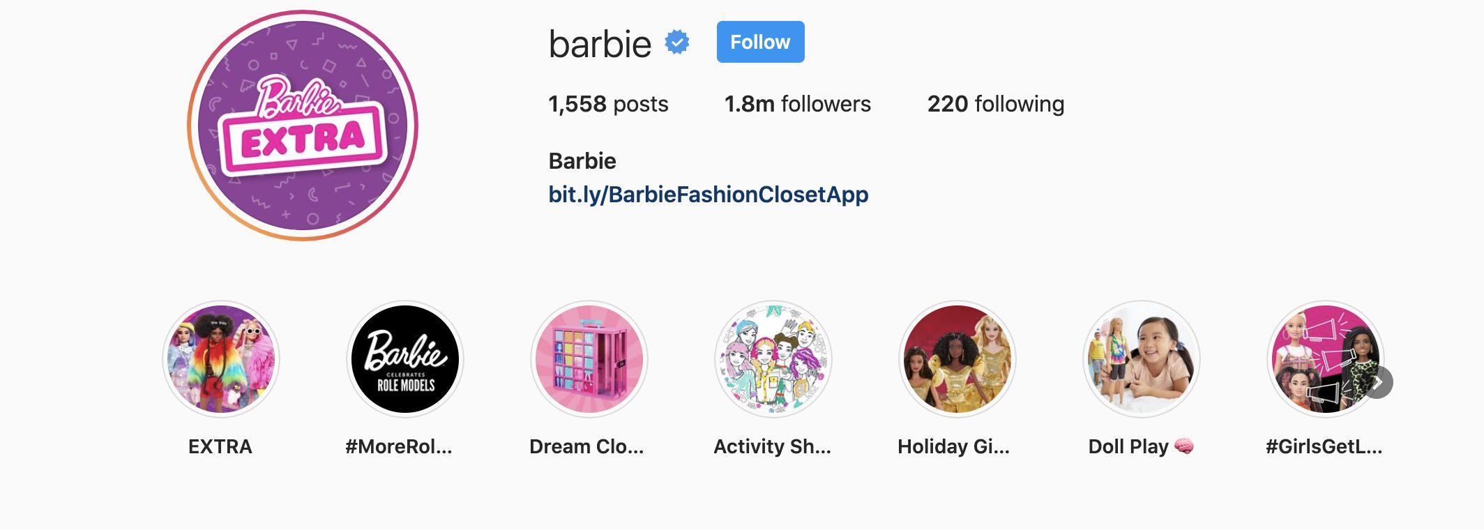 Barbie virtual influencer